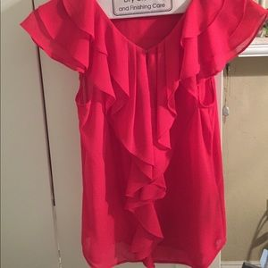 H&M Coral short sleeve blouse